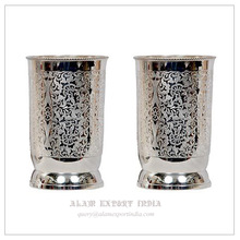 Silver Brass Drinking Glass