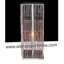 silver crystal drop centerpiece