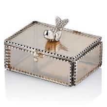 smoke glass jewellery box