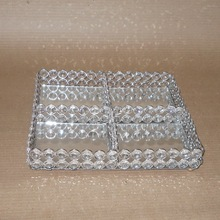 square crystal tray
