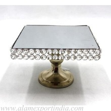 Table top crystal cake stand