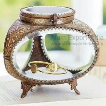Triangle Glass jewelry box