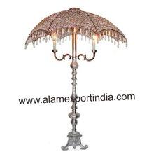 umbrella crystal candelabra