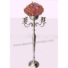 wedding flower bowl candelabra