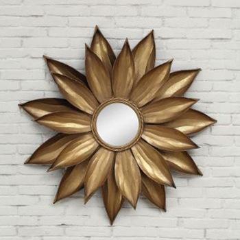 sunflower shape wall Decorative metal Mirror