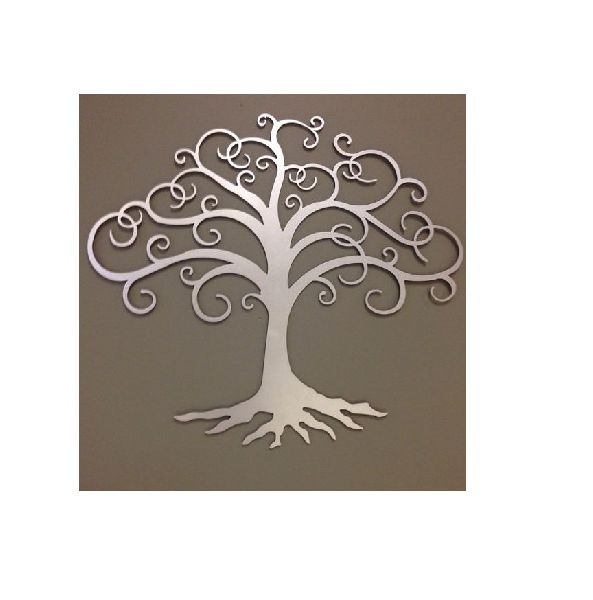 Hanging Silver Tree Wall