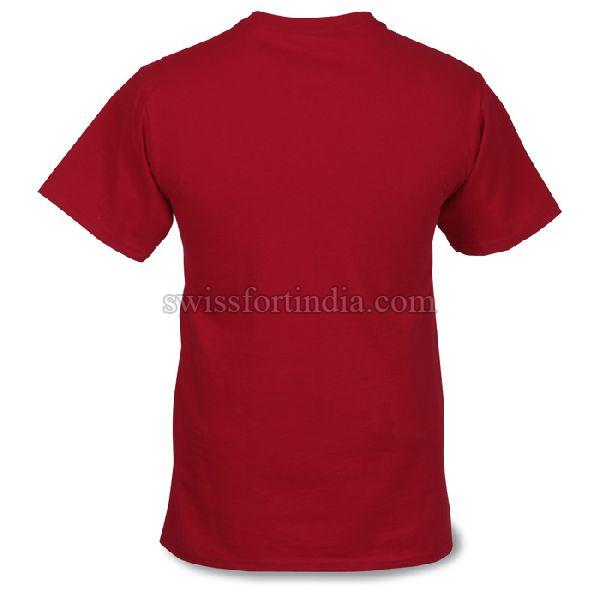 Red Mens Round Neck T-Shirt