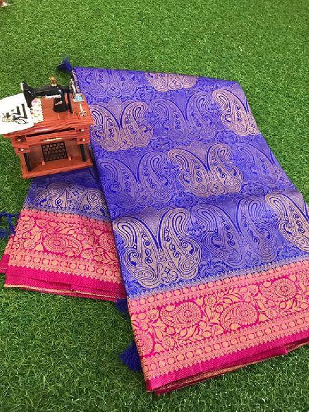 Banarasi soft silk sarees with brocade blouse