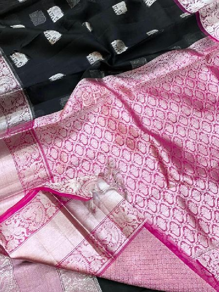 Kora Silk Sarees With All over Elephant Buta and brocade blouse