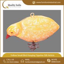 Yellow Small Bird Hanging Figurine Gift Article Figurine