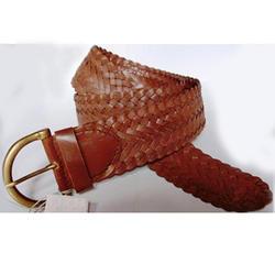 Dark Brow Leather Belt