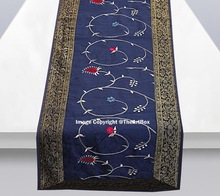 Silk Embroidery Table Runner