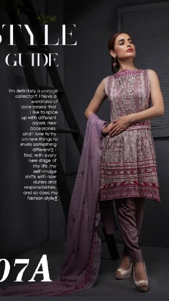 Ayesha chottani Summer Embroidered Suit Material