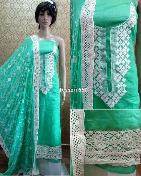 tessori chanderi cotton designer suits
