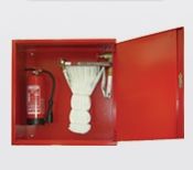 Fire Hose and fire extinguishers cabinet
