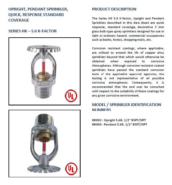 Upright & Pendent Sprinkler