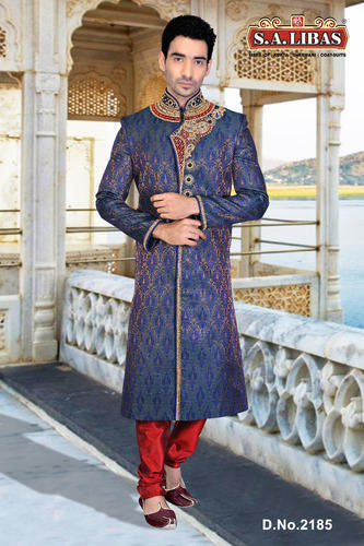 f0b4d2fa7c We offer a wide range of fabulous designer wedding sherwanis. Our range of  men's embroidered sherwani is perfectly trendy; style oriented and is  available ...