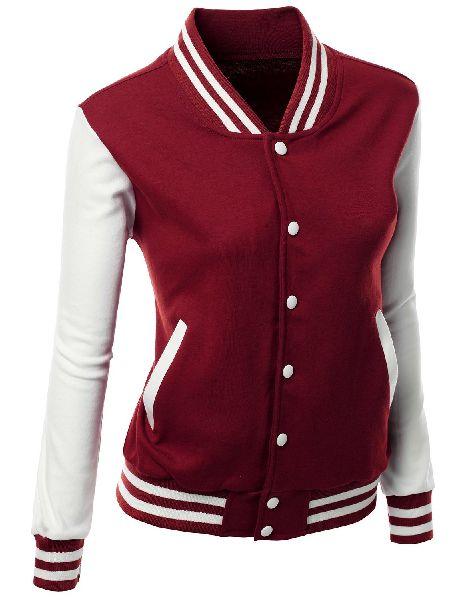 Girls slim fit varsity jacket