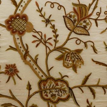 Varmul Crewel Work Hand Embroidered Organza Silk Fabric (NH # COS8)