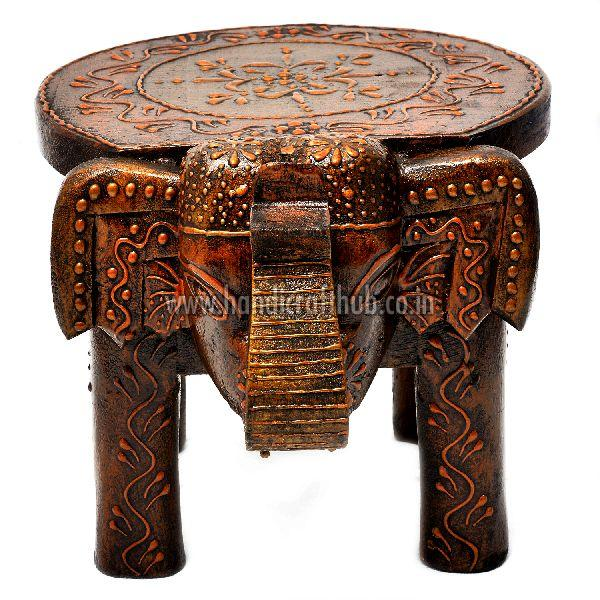 Terrific Hand Painted Wooden Elephant Stool Manufacturer In Jaipur Onthecornerstone Fun Painted Chair Ideas Images Onthecornerstoneorg