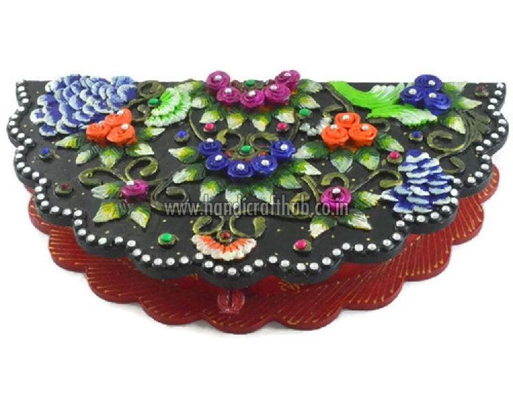 Wooden Handcrafted Peacock Shaped Dry Fruit Boxes