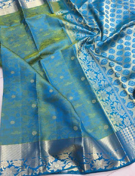 Pure Handloom Kanchi Silk Sarees with Self Brocade Designs