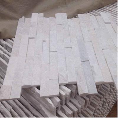 Natural White Quartz Wall Cladding Culture Stone