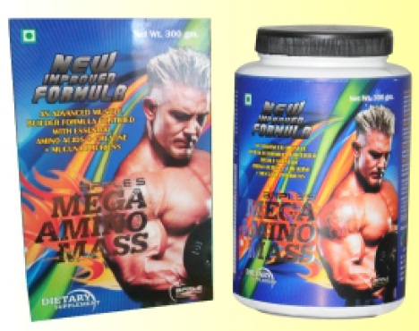 Mega Amino mass nutrition and food supplement 300 gm (003)
