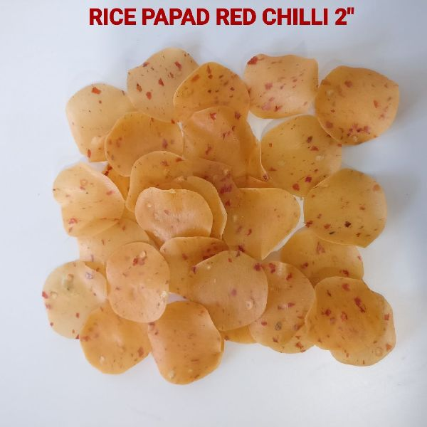 Rice and Red Chilli Papad