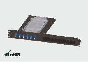 Combined Fiber and Copper Patch Panel