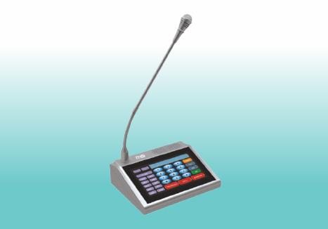 Touch Screen Desktop Intercom Paging Microphone