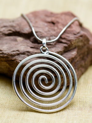 Silver Spiral Necklace