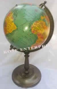 Antique Nautical World Globe