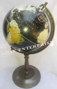 Black Antique Brass Globe