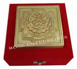 Brass Antique Meru Shree Yantra with Gifted Box