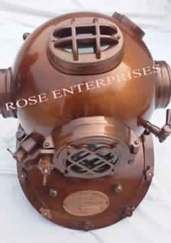 Brown Antique Mark V Divers Helmet