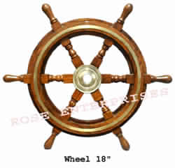 decorative wooden Ship Wheel