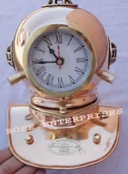 Nautical Diving Helmet Clock