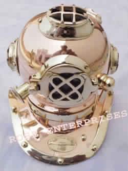 V Mark Brass & Copper Diving Helmet