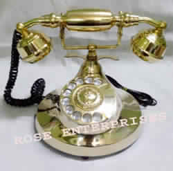 Victorian Style Brass Telephone