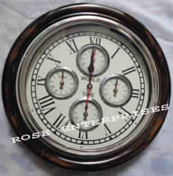 World Time Clock Collectible Vintage Wall Clock