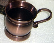 Solid Copper Metal Moscow Mule Mug