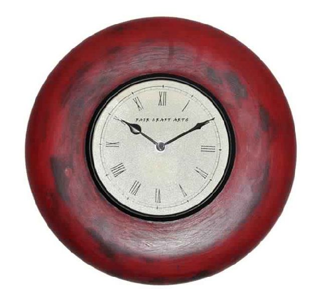 12 WOODEN ANTIQUE WALL CLOCK (FWC-1004)