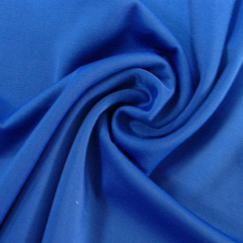 Blue Plain Polyester Lycra Fabric
