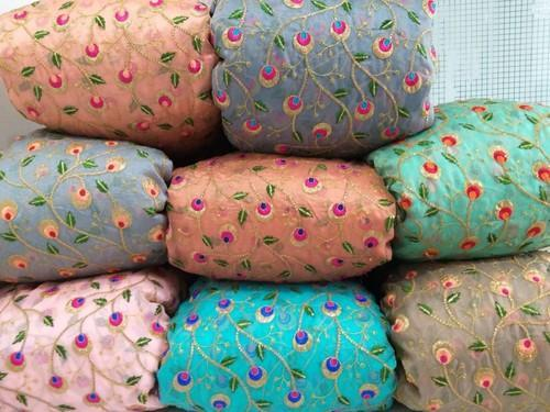 Fancy Organza Embroidered Fabric