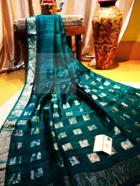 elegant Matka Silk Box Pallu Sarees available