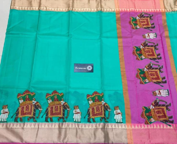 pure handloom silk kota sarees with contrast blouse and pallu