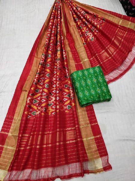 Pure silk special designer dupatta with ikkat seiko top