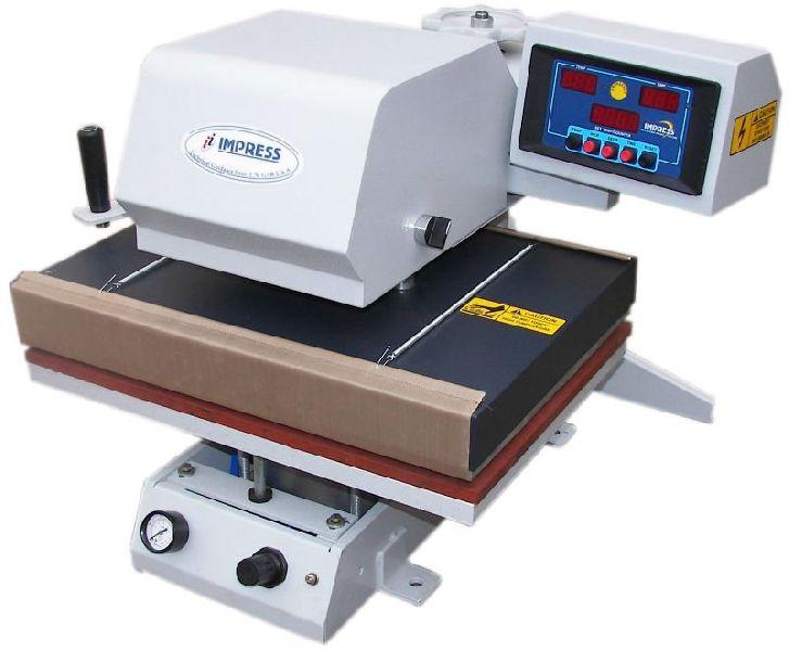 Automatic T shirt printing machine.