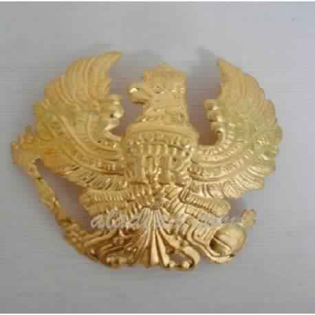 German Pickelhaube Brass Prussia helmet Wappen Badge handmade brass helmet part